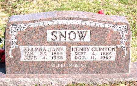 SNOW, ZELPHA JANE - Boone County, Arkansas | ZELPHA JANE SNOW - Arkansas Gravestone Photos