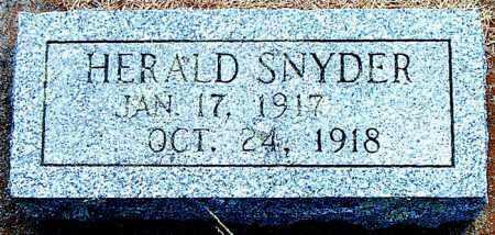 SNYDER, HERALD - Boone County, Arkansas   HERALD SNYDER - Arkansas Gravestone Photos