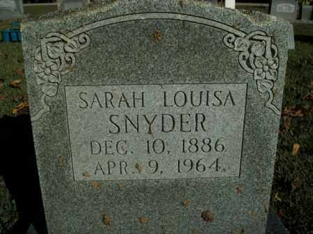 SNYDER, SARAH LOUISA - Boone County, Arkansas | SARAH LOUISA SNYDER - Arkansas Gravestone Photos