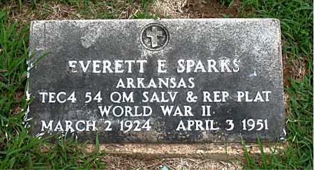 SPARKS  (VETERAN WWII), EVERETT E - Boone County, Arkansas   EVERETT E SPARKS  (VETERAN WWII) - Arkansas Gravestone Photos