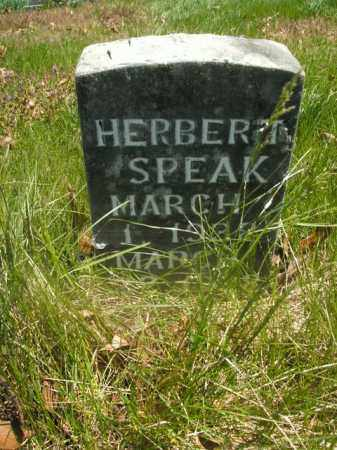 SPEAK, HERBERT - Boone County, Arkansas | HERBERT SPEAK - Arkansas Gravestone Photos