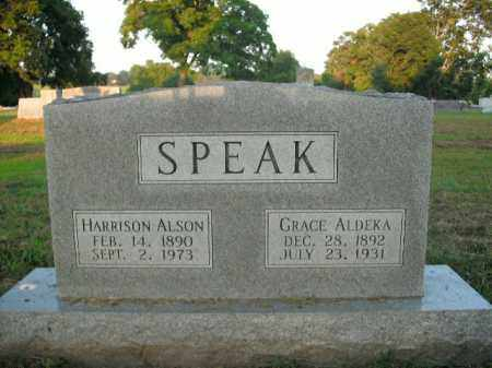 SPEAK, GRACE ALDEKA - Boone County, Arkansas | GRACE ALDEKA SPEAK - Arkansas Gravestone Photos