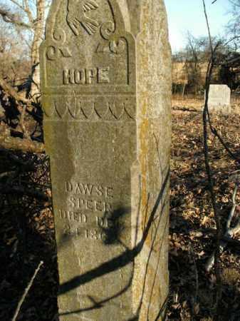 SPEER, DAWSE - Boone County, Arkansas | DAWSE SPEER - Arkansas Gravestone Photos