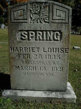 SPRING, HARRIET LOUISE - Boone County, Arkansas   HARRIET LOUISE SPRING - Arkansas Gravestone Photos