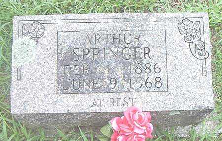 SPRINGER, ARTHUR - Boone County, Arkansas   ARTHUR SPRINGER - Arkansas Gravestone Photos