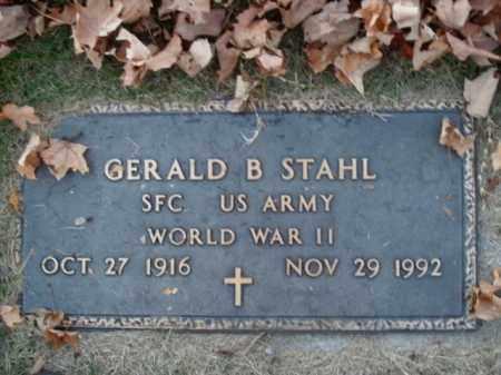 STAHL  (VETERAN WWII), GERALD B - Boone County, Arkansas   GERALD B STAHL  (VETERAN WWII) - Arkansas Gravestone Photos