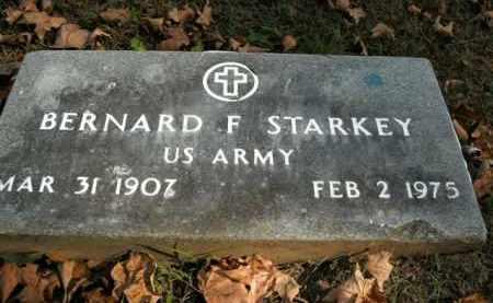 STARKEY  (VETERAN ), BERNARD F - Boone County, Arkansas | BERNARD F STARKEY  (VETERAN ) - Arkansas Gravestone Photos