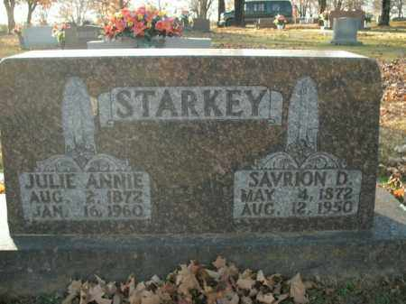 STARKEY, JULIE ANNIE - Boone County, Arkansas | JULIE ANNIE STARKEY - Arkansas Gravestone Photos