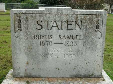 STATEN, RUFUS SAMUEL - Boone County, Arkansas | RUFUS SAMUEL STATEN - Arkansas Gravestone Photos