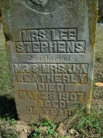 WEATHERLY STEPHENS, LEE - Boone County, Arkansas | LEE WEATHERLY STEPHENS - Arkansas Gravestone Photos