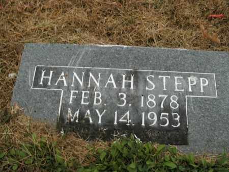 WILBURN STEPP, HANNAH - Boone County, Arkansas   HANNAH WILBURN STEPP - Arkansas Gravestone Photos