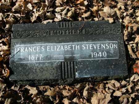 STEVENSON, FRANCES ELIZABETH - Boone County, Arkansas   FRANCES ELIZABETH STEVENSON - Arkansas Gravestone Photos