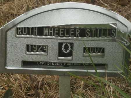 WHEELER STILLS, RUTH - Boone County, Arkansas | RUTH WHEELER STILLS - Arkansas Gravestone Photos