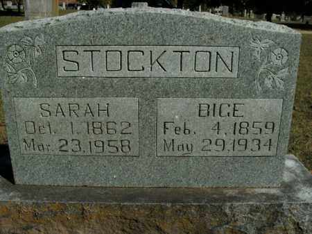 STOCKTON, SARAH - Boone County, Arkansas | SARAH STOCKTON - Arkansas Gravestone Photos