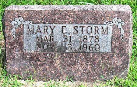 STORM, MARY E - Boone County, Arkansas   MARY E STORM - Arkansas Gravestone Photos