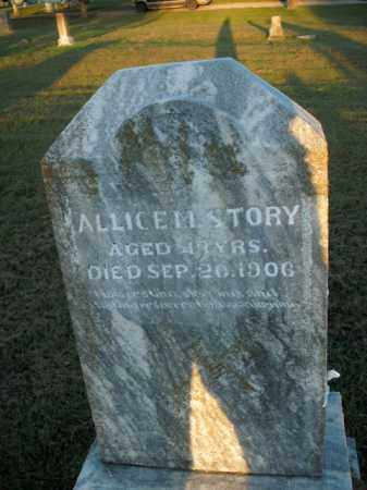 STORY, ALLICE M. - Boone County, Arkansas | ALLICE M. STORY - Arkansas Gravestone Photos