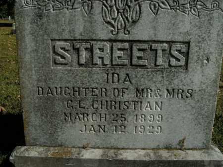 CHRISTIAN STREETS, IDA - Boone County, Arkansas | IDA CHRISTIAN STREETS - Arkansas Gravestone Photos