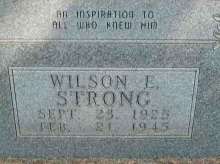 STRONG, WILSON E. - Boone County, Arkansas | WILSON E. STRONG - Arkansas Gravestone Photos