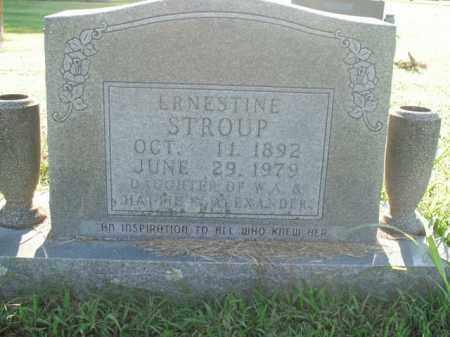 STROUP, ERNESTINE - Boone County, Arkansas | ERNESTINE STROUP - Arkansas Gravestone Photos