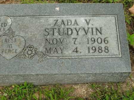 STUDYVIN, ZADA V. - Boone County, Arkansas   ZADA V. STUDYVIN - Arkansas Gravestone Photos
