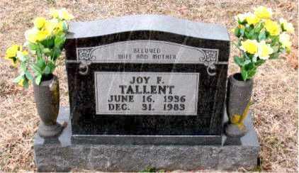 TALLENT, JOY  FRANCES - Boone County, Arkansas | JOY  FRANCES TALLENT - Arkansas Gravestone Photos