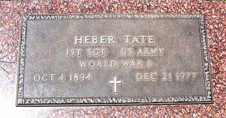 TATE  (VETERAN WWI), HEBER - Boone County, Arkansas   HEBER TATE  (VETERAN WWI) - Arkansas Gravestone Photos