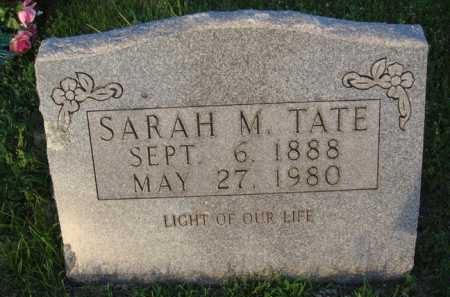 TATE, SARAH M. - Boone County, Arkansas | SARAH M. TATE - Arkansas Gravestone Photos