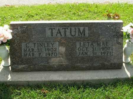 TATUM, C. FINLEY - Boone County, Arkansas   C. FINLEY TATUM - Arkansas Gravestone Photos
