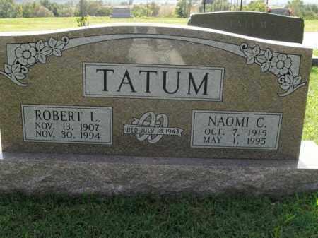 TATUM, ROBERT L. - Boone County, Arkansas   ROBERT L. TATUM - Arkansas Gravestone Photos