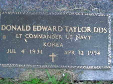 TAYLOR  (VETERAN KOR), DONALD EDWARD - Boone County, Arkansas | DONALD EDWARD TAYLOR  (VETERAN KOR) - Arkansas Gravestone Photos