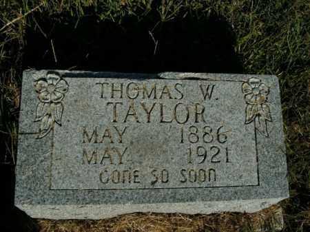 TAYLOR, THOMAS W. - Boone County, Arkansas   THOMAS W. TAYLOR - Arkansas Gravestone Photos