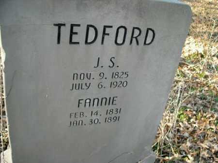TEDFORD, FANNIE - Boone County, Arkansas   FANNIE TEDFORD - Arkansas Gravestone Photos
