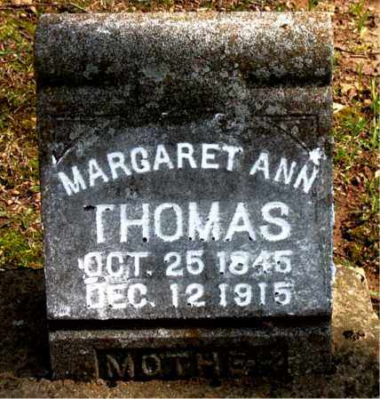 THOMAS, MARGARET  ANN - Boone County, Arkansas | MARGARET  ANN THOMAS - Arkansas Gravestone Photos
