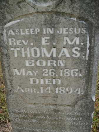 THOMAS, E M (REVEREND) - Boone County, Arkansas | E M (REVEREND) THOMAS - Arkansas Gravestone Photos