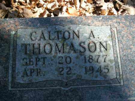 THOMASON, CALTON A. - Boone County, Arkansas | CALTON A. THOMASON - Arkansas Gravestone Photos