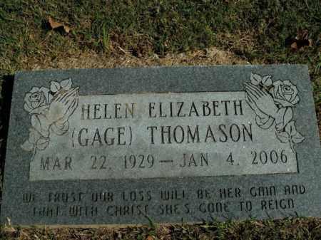 GAGE THOMASON, HELEN ELIZABETH - Boone County, Arkansas | HELEN ELIZABETH GAGE THOMASON - Arkansas Gravestone Photos