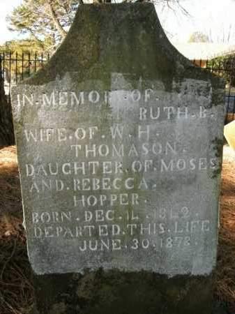 HOPPER THOMASON, RUTH B. - Boone County, Arkansas | RUTH B. HOPPER THOMASON - Arkansas Gravestone Photos