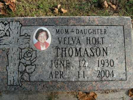 HOLT THOMASON, VELVA - Boone County, Arkansas | VELVA HOLT THOMASON - Arkansas Gravestone Photos