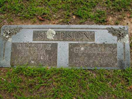 SIMPSON, GEORGE H. - Boone County, Arkansas | GEORGE H. SIMPSON - Arkansas Gravestone Photos