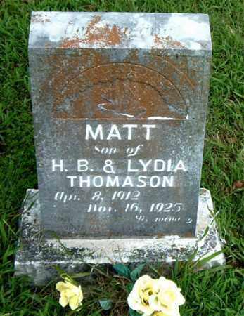 THOMPSON, MATT - Boone County, Arkansas | MATT THOMPSON - Arkansas Gravestone Photos
