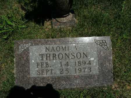 THRONSON, NAOMI V. - Boone County, Arkansas | NAOMI V. THRONSON - Arkansas Gravestone Photos