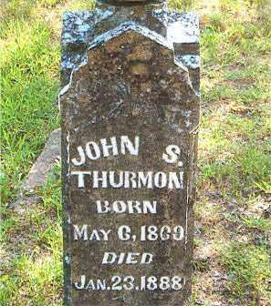 THURMON, JOHN  S. - Boone County, Arkansas | JOHN  S. THURMON - Arkansas Gravestone Photos