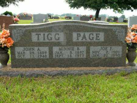 TIGG, MINNIE B. - Boone County, Arkansas | MINNIE B. TIGG - Arkansas Gravestone Photos