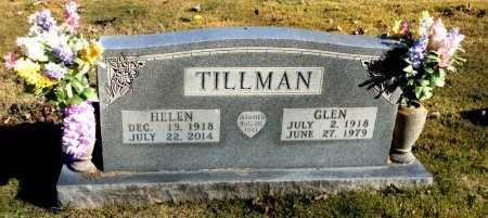 TILLMAN, GLEN - Boone County, Arkansas   GLEN TILLMAN - Arkansas Gravestone Photos