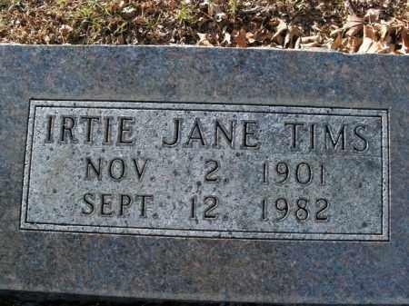 TIMS, IRTIE JANE - Boone County, Arkansas   IRTIE JANE TIMS - Arkansas Gravestone Photos
