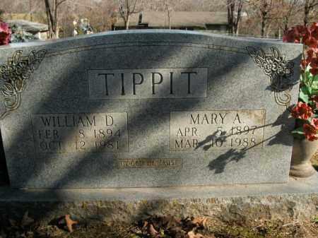 TIPPIT, WILLIAM D. - Boone County, Arkansas | WILLIAM D. TIPPIT - Arkansas Gravestone Photos