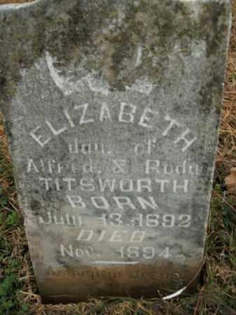 TITSWORTH, ELIZABETH - Boone County, Arkansas | ELIZABETH TITSWORTH - Arkansas Gravestone Photos