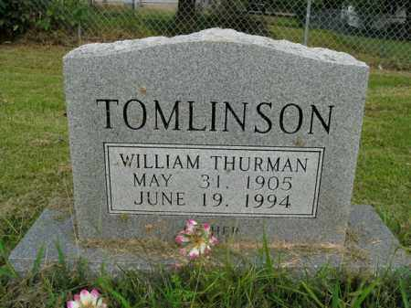 TOMLINSON, WILLIAM THURMAN - Boone County, Arkansas | WILLIAM THURMAN TOMLINSON - Arkansas Gravestone Photos