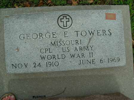 TOWERS  (VETERAN WWII), GEORGE E. - Boone County, Arkansas | GEORGE E. TOWERS  (VETERAN WWII) - Arkansas Gravestone Photos