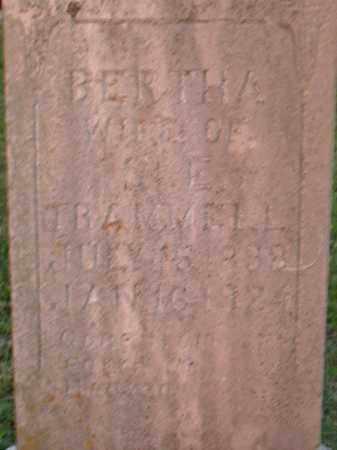 TRAMMELL, BERTHA - Boone County, Arkansas   BERTHA TRAMMELL - Arkansas Gravestone Photos